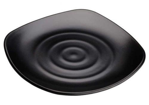 Winco WDM013-304, 11-3/4-Inch Dia Ardesia Rika Melamine Spiral Plate, Black, 24/CS