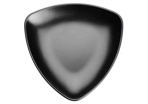 Winco WDM015-301, 8-1/8-Inch Dia Ardesia Natsuki Triangular Melamine Plate, Black, 24/CS