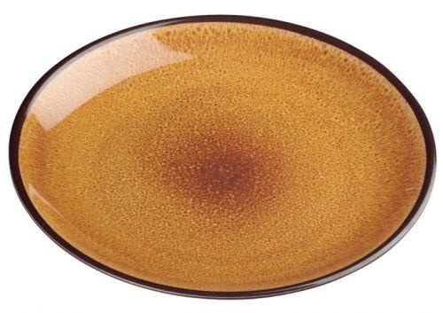 Winco WDM020-401, 9-Inch Dia Ardesia Ava Round Melamine Plate, Brown, 24/CS