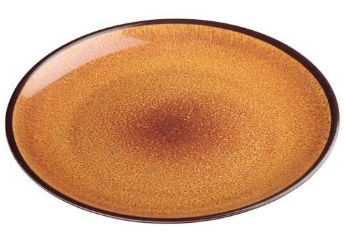 Winco WDM020-402, 11-Inch Dia Ardesia Ava Round Melamine Plate, Brown, 24/CS