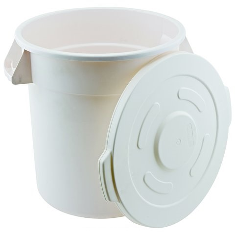 Winco FCW-10L, Lid for White Trash Can, 10gln, NSF