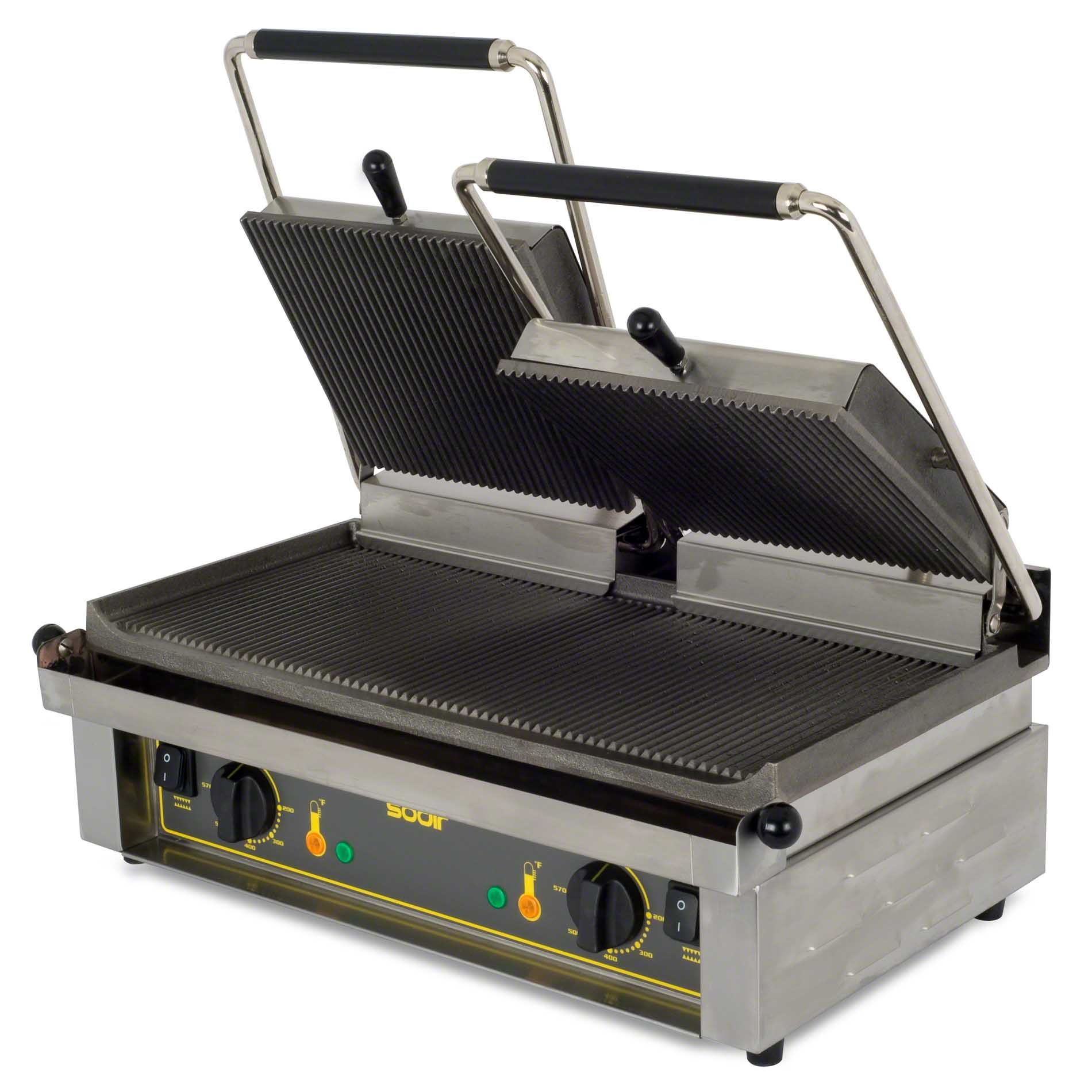 ... MAJESTIC, 24-Inch Countertop Double Electric Panini Grill, cULus, NSF