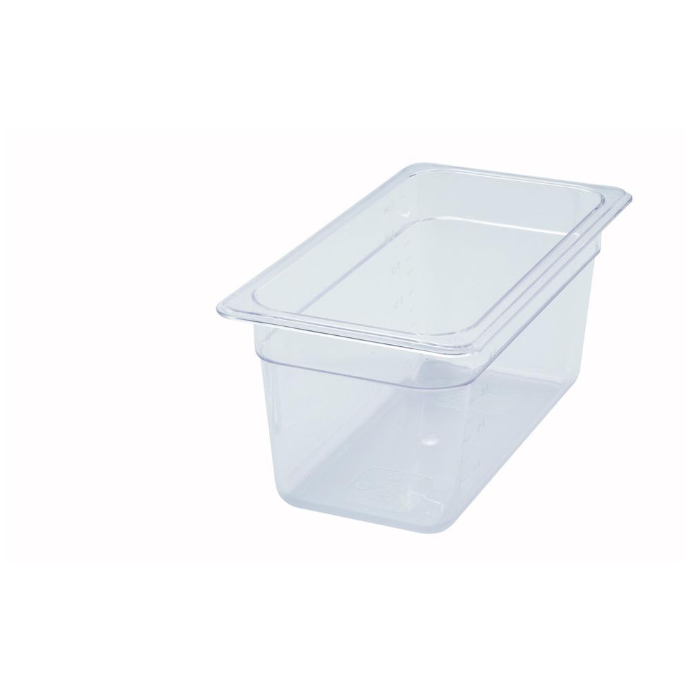 Winco SP7206 6-Inch Deep Half-Size Polycarbonate Food Pan NSF
